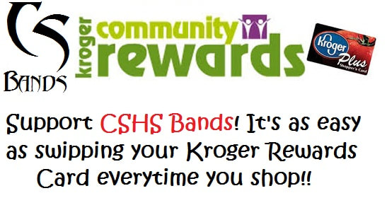 """Starting NOW!, you can """"register"""" your Kroger's Plus Card with the CSHS Band, ..."""